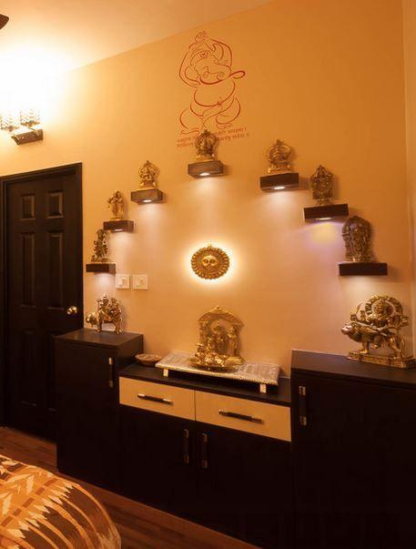 Pooja Room Colour Ideas