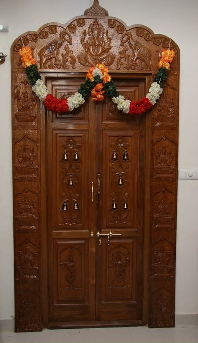 Pooja Room Door Designs - Pooja Room (With images) | Pooja room .