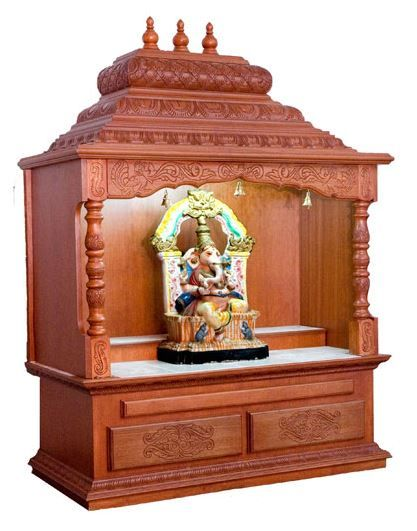 Pooja Room Designs in Wood - Pooja Room (With images) | Temple .