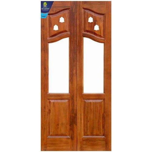Teak Wood Interior Designer Wooden Pooja Room Door, Rs 12000 .
