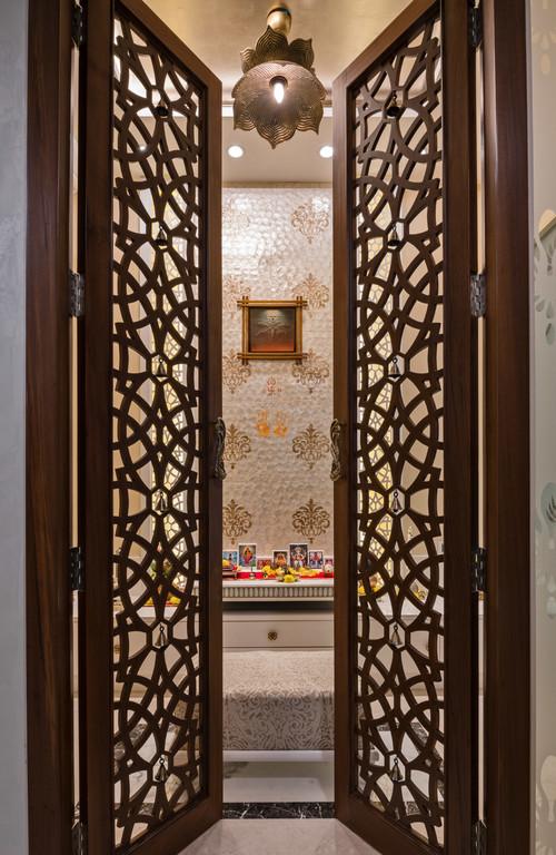Elegant Door Designs for Pooja Roo
