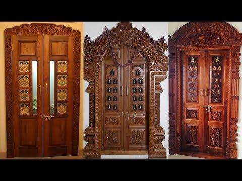 Pooja Room Doors// Wooden Door Frame And Door Designs - YouTu
