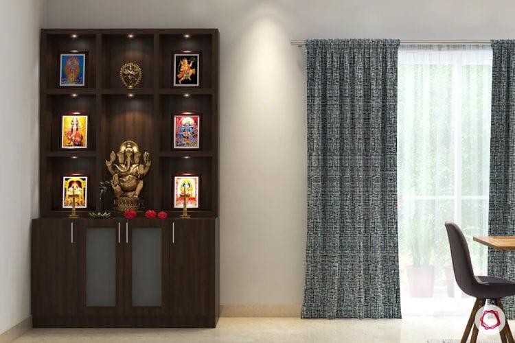 Pooja Rooms that Pack Storag