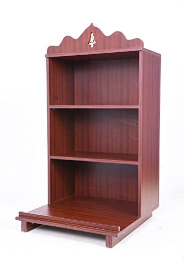Generic Multi-Ply Puja Mandir Open Shelf (Rosewood_24 Inch X 24 .