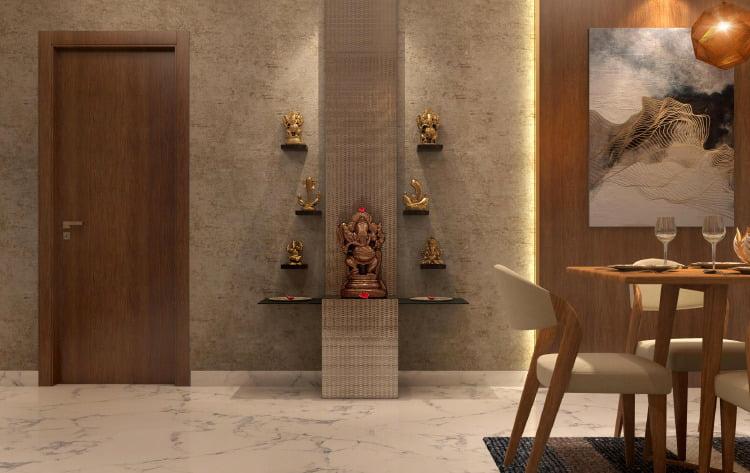 5 Pooja Shelf Designs For Homes Low On Spa