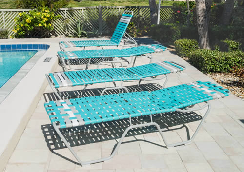 Vinyl Strap Chaise Lounge | Pool Lounge Chairs | Commercial .
