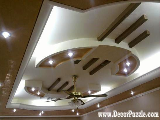 pop false ceiling design for luxury living room interior (With .