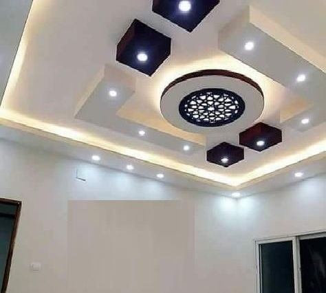 Latest 60 POP false ceiling design catalog with LED lighting 20