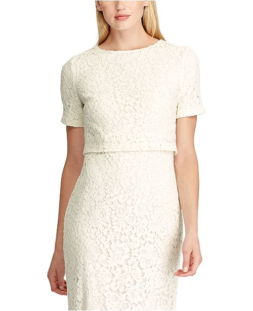 Lauren Ralph Lauren Petite Lace Popover Dress & Reviews - Dresses .