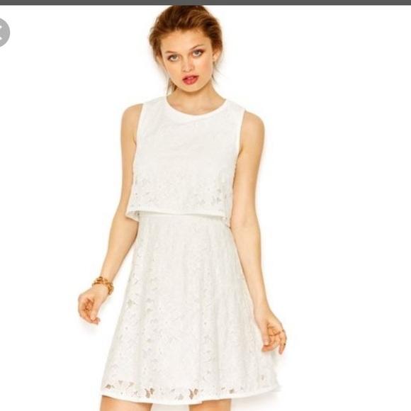 Betsey Johnson Dresses | White Lace Popover Dress | Poshma