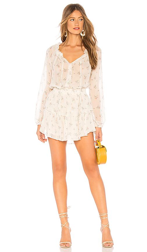 LoveShackFancy Popover Dress in Shortbread | REVOL