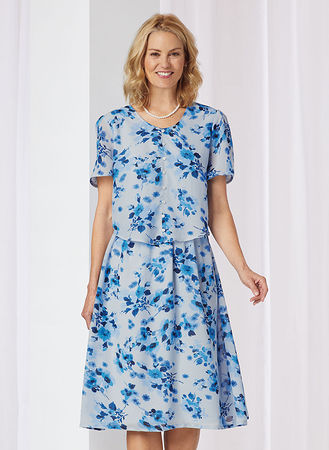 Printed Popover Dress | AmeriMa