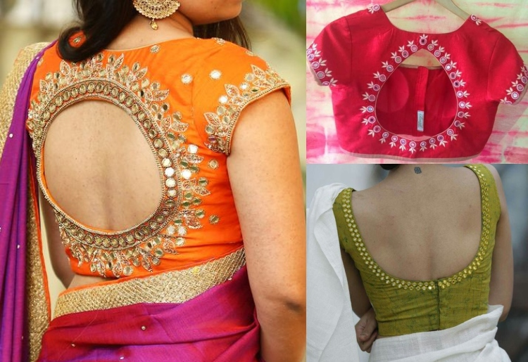 13 Classy Pot neck Blouse Designs to look Beautif