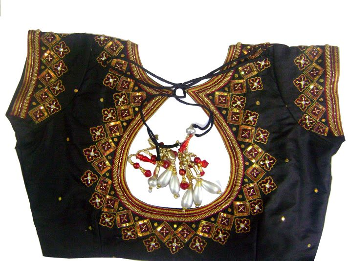 Best Pot neck blouse designs (With images) | Blouse neck designs .
