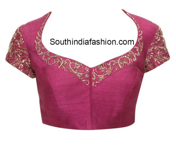 Pot Neck Blouse (With images) | Blouse neck designs, Front blouse .