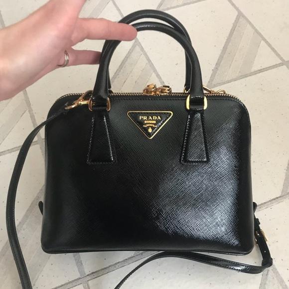 Prada Bags | Handbag Saffiano Patent Leather Promenade | Poshma