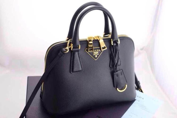 French purchasing genuine Prada handbags BL0838 killer trumpet .