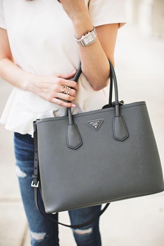Winter White | Prada handbags, Purs