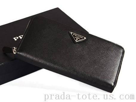 Discount #Prada M506A Wallets in Black Outlet store   Wallet, Long .