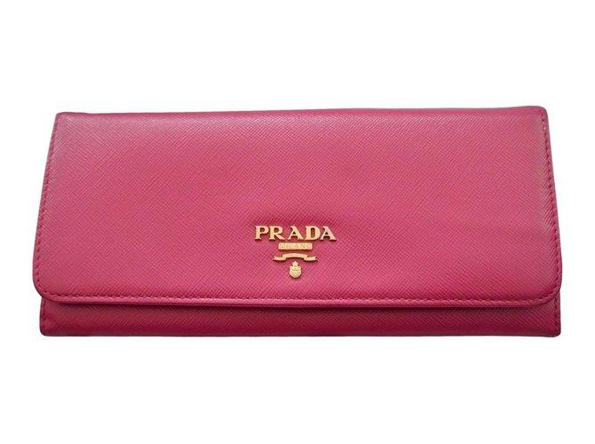 Prada wallets Wallets Leather Pink ref.87034 - Joli Clos