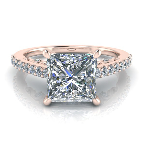 Princess Cut Engagement Ring #GTJ3809-princess-r | Gerry The Jewel