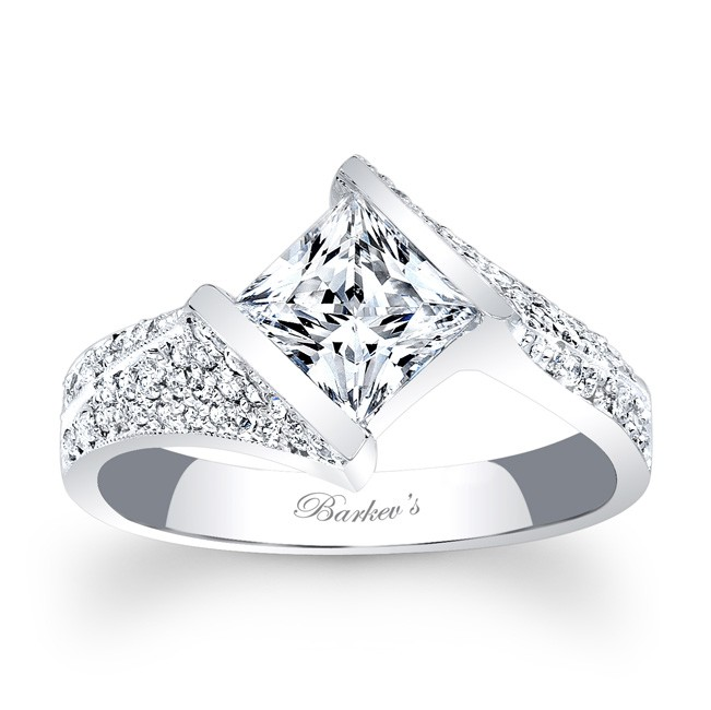 Barkev's Princess Cut Engagement Ring 7872