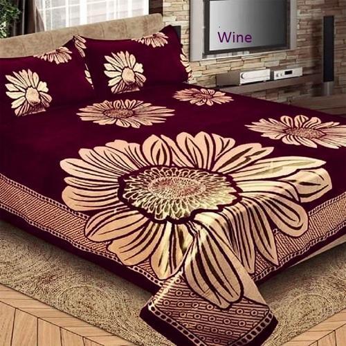 Designer Printed Bed Sheet, कॉटन डबल बेड शीट, डबल .