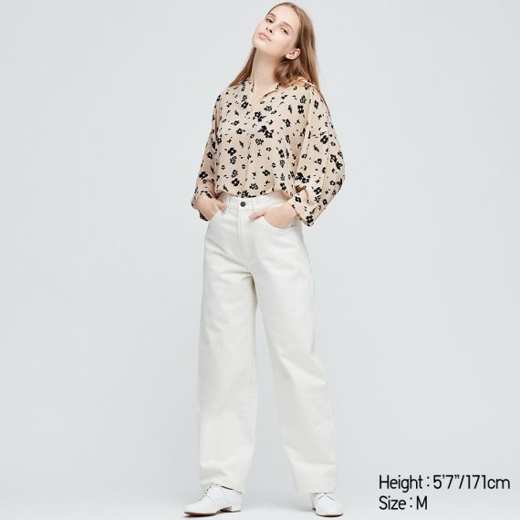 WOMEN Printed 3/4 Sleeve Blouse - Shirts & Blouses - TOPS - WOMEN .