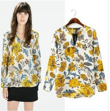 Print blouses with tropical patterns – ChoosMeinSty