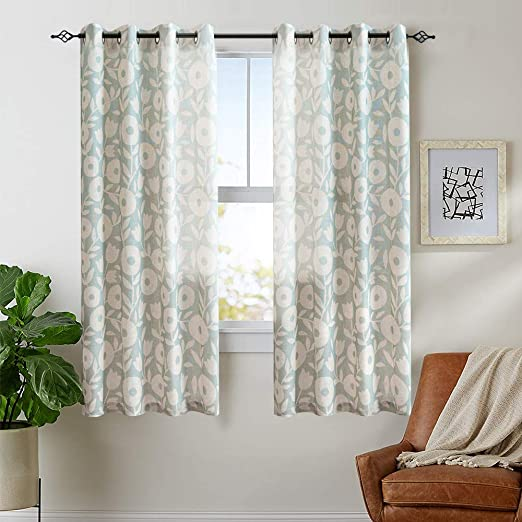 Amazon.com: Vangao Floral Printed Curtains for Bedroom 63 inches .