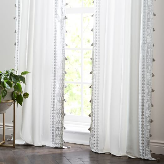 Echo Print Curtains (Set of 2) - Platinum | Printed curtains .