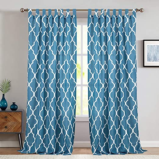 Amazon.com: jinchan Moroccan Tile Printed Curtains for Living Room .
