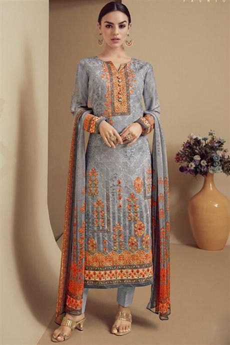 Pakistani Suits Collection Designer Long Digital Print Salwar .