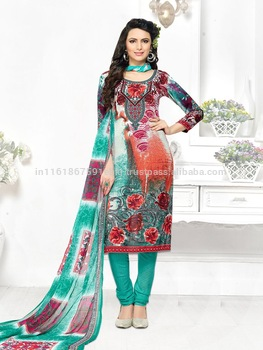 2017 Latest Design Beige And Green Colored Leon Printed Salwar .