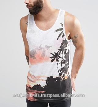 Mens Vest With Beach Pri