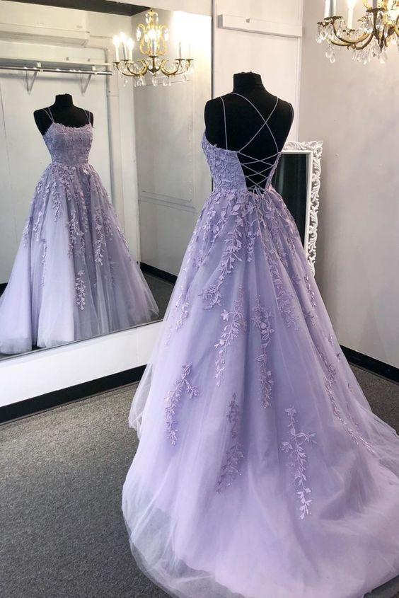 Fashion Criss-Cross Back Lavender Prom Dress – daisystyledre