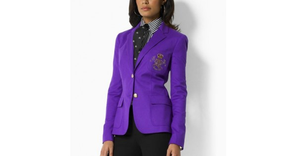 Ralph Lauren Womens 2009 Crested Blazer in Purple for che