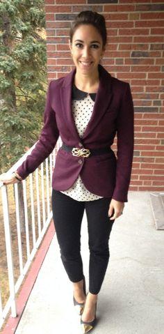 26 Best Purple Blazer images | Purple blazers, Outfits, Blaz