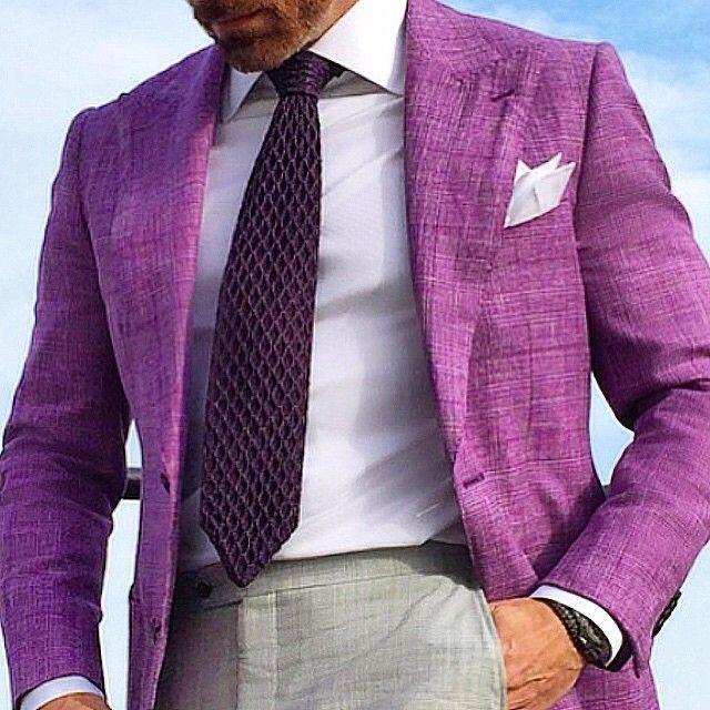 Love. Heather purple blazer | Ropa de hombre, Camisa rosa hombre .