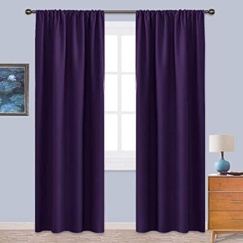Dark Purple Curtains: Amazon.c