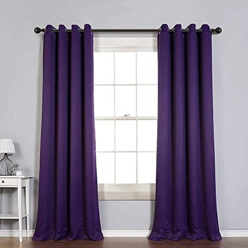 Purple Curtain: Amazon.c