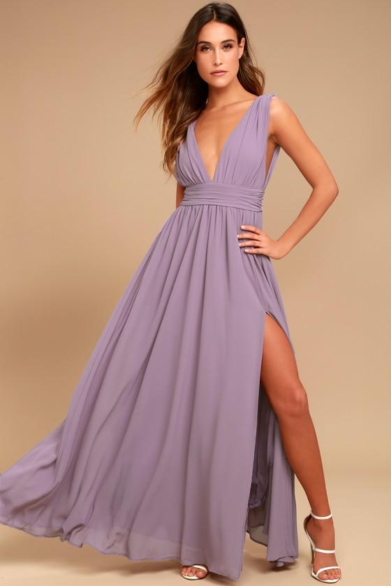 Heavenly Hues Dusty Purple Maxi Dress | Purple maxi dress .