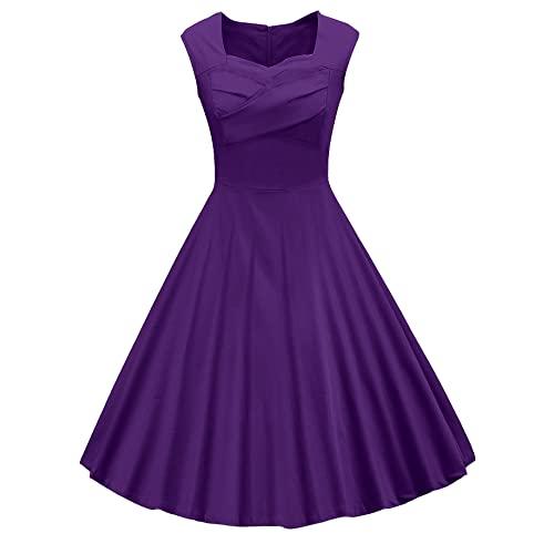 Purple 50s Dress: Amazon.c
