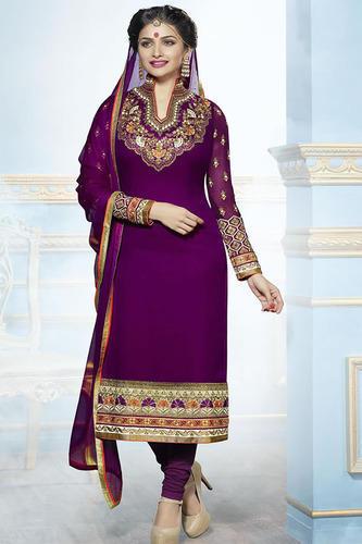 Purple Color Designer Salwar Kameez, Salwar Suit, Women Salwar .