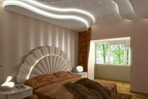 20 Luxury false ceiling designs made of PVC, gypsum board and wood .
