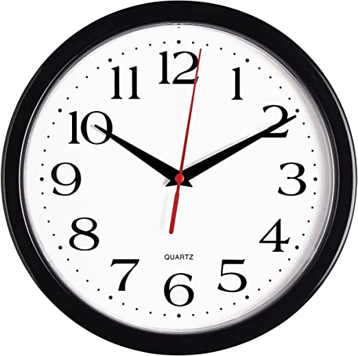 Amazon.com: Bernhard Products Black Wall Clock Silent Non Ticking .