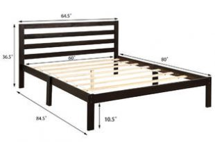 Gymax Solid Wood Platform Bed Headboard Design Queen Size Bed .