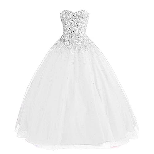Quinceanera Dress White: Amazon.c