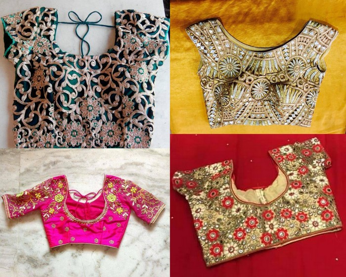 Simple Designer Readymade Blouses - Saree Blouse Patter
