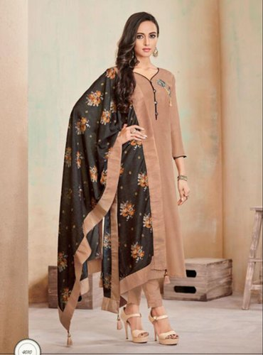 Heavy jam Cotton Party Wear Readymade Churidar Salwar Suit, Wash .